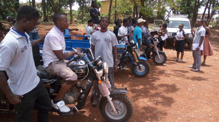 Youth groups trained in door-to-door waste management under Operation Clean Freetown, are equipped t