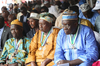 Paramount Chiefs get chiefdom-specific information on President's Recovery Priorities as Chief of St