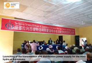 Energy Minister launches Port Loko power transmission and distribution project