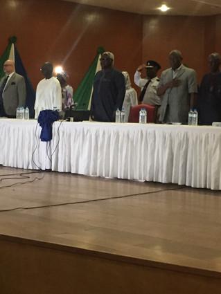 HE, Dr Ernest Koroma, the President of Sierra Leone speaks at the closing event for the President&#3