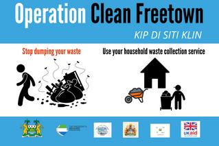 OPERATION CLEAN FREETOWN WEEK 4 INTENSIVE CLEAN: REVISED SCHEDULE