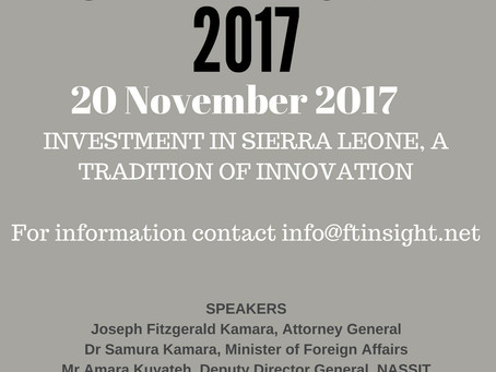 Investment in Sierra Leone, a tradition of innovation!