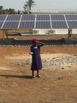 The MoE's roll-out of 24-hour power to 50 rural community health centres continues in Levuma, Kenema