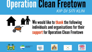 Operation Clean Freetown thanks its supporters