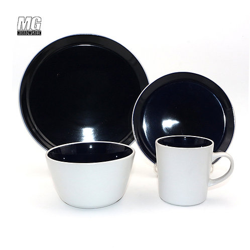 Chinese factory color glaze dinner set