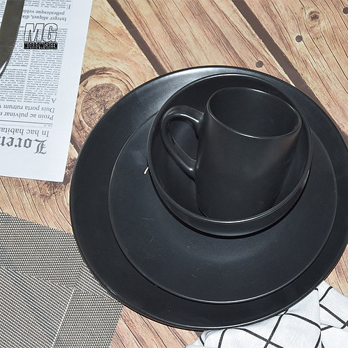 Henan yisida Wholesale elegant stoneware dinner plate sets green ceramic dinner