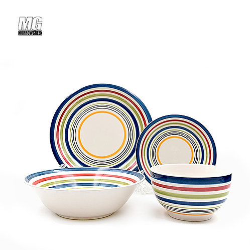 Chinese exporter OEM ceramic hand-painted dinnerware sets