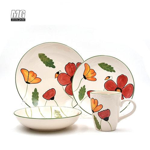 Ceramic factory export | Stoneware dinnerware set wholesale