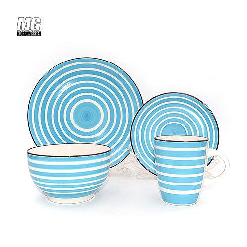 color stripe hand painting dinnerwarew set