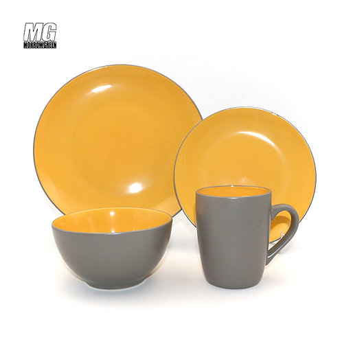 16 piece factory stoneware dinnerware set,dining set crockery set for 4
