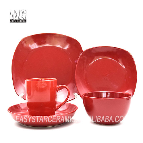 Exported ceramic dinnerware set 20 pcs stoneware wholesaler