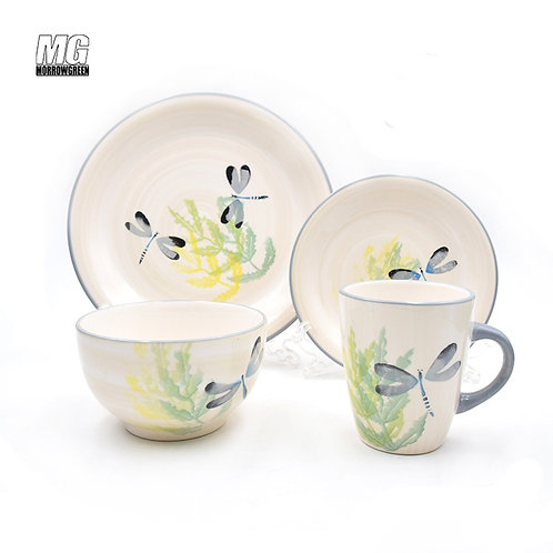 Best China dinnerware brand export | Hand-painted stoneware dinnerware set