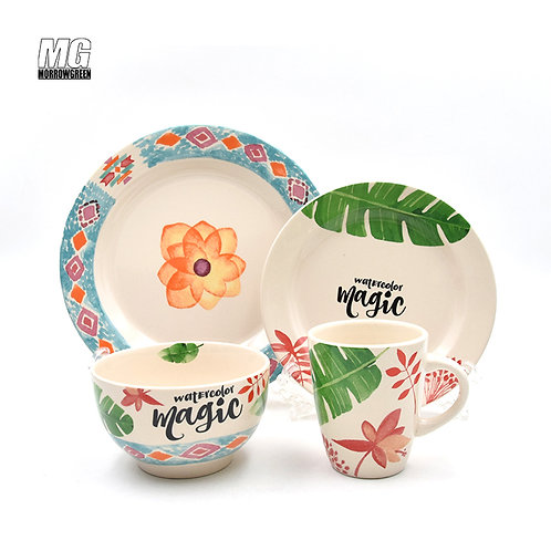 Chinese exporter decal ceramic dinner set