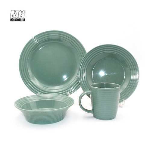 Factory supplier circle embossing tableware set