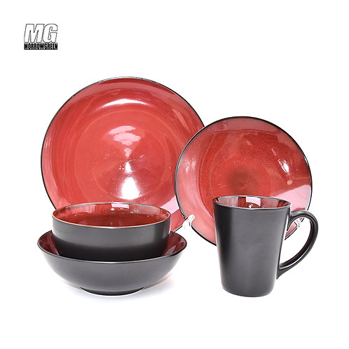 YSD-1524 Wholesale stoneware OEM reactive dinnerware sets