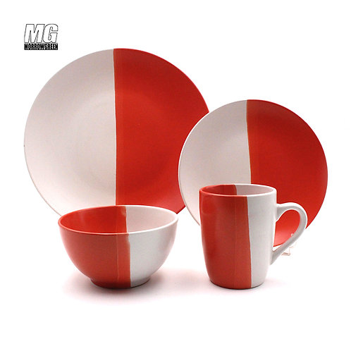 Two color glaze import matte dinnerware set