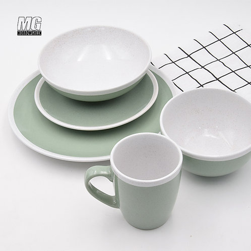 Henan yisida wholesale cerami color glazed two tone dinner set