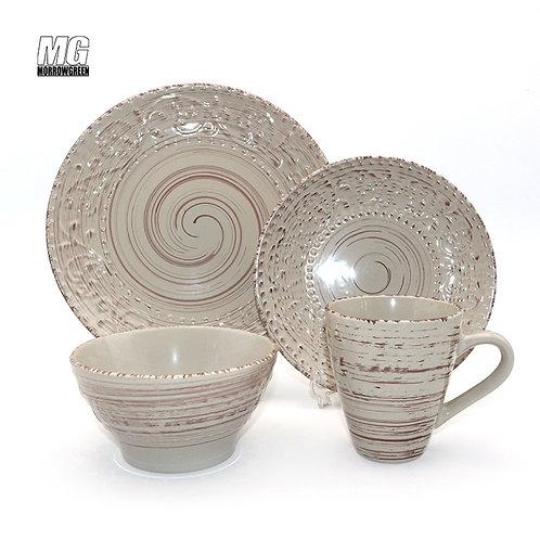 China wholesaler ceramic stoneware dinnerware set dinner set tableware
