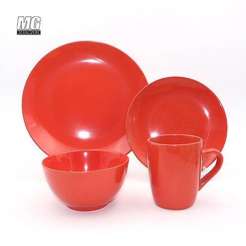 Wholesaler moon light solid color round shape ceramic stoneware dinner set