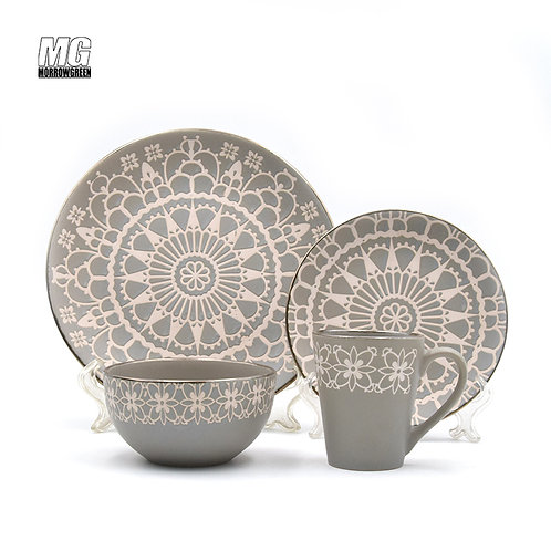 Factory supplier ab grade blue and white flower design ceramic style tableware