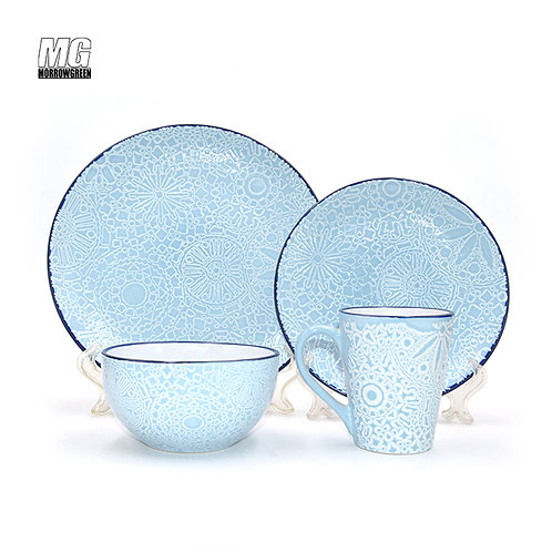 Exported China factory new design dinner set 16 pcs color box