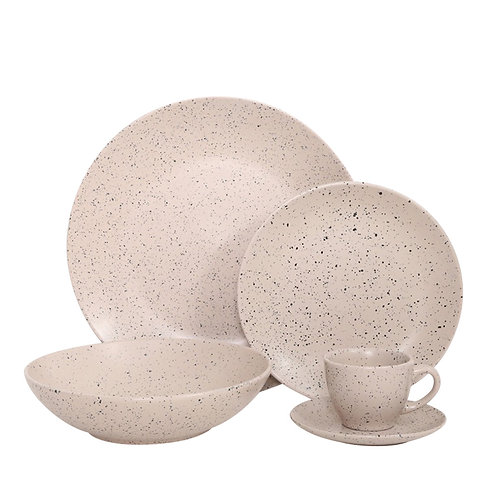 Import from china stoneware sesame glaze dinnerware