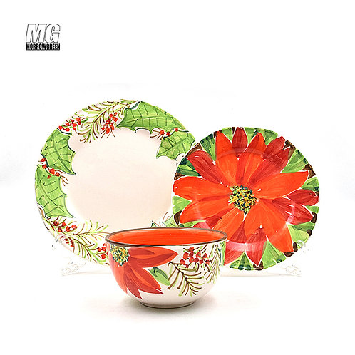 Ceramic factory outlet | Decal porcelain dinner set 16-piece