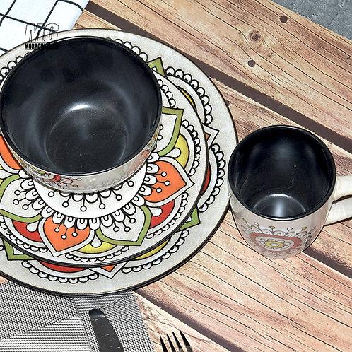 China exporter ceramic stoneware dinnerware tableware set