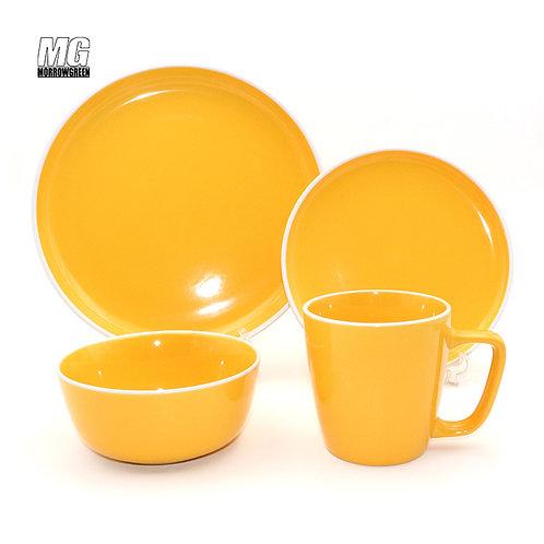 Stoneware dinnerware set tableware set for 4 people
