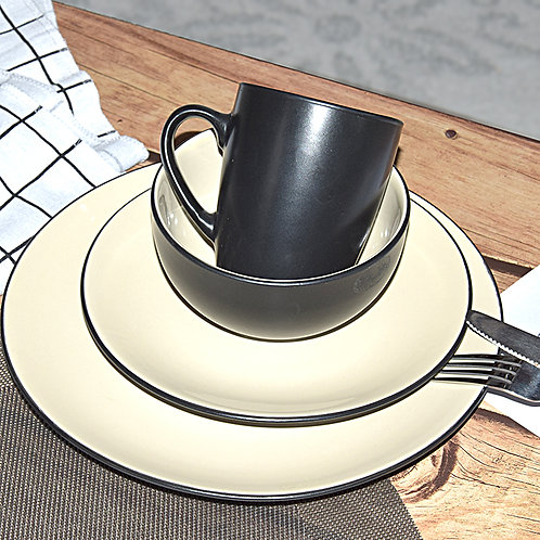 16pcs Ceramic Porcelain Stoneware Dinner Services Sets for hotel