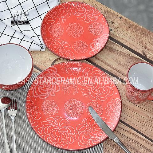 Chinese supplier ceramic stoneware dinner plates