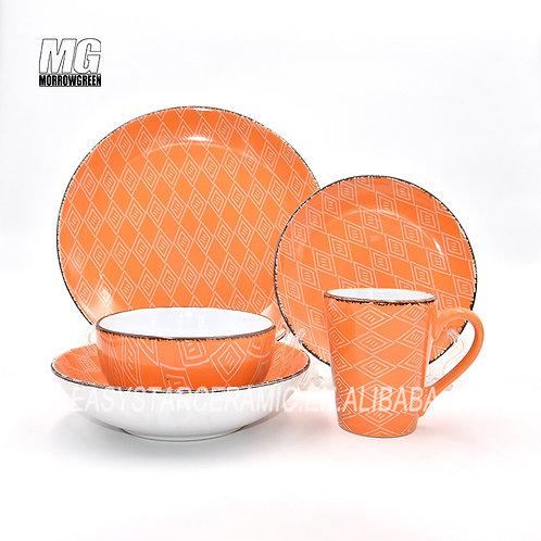 Chinese supplier ceramic stoneware everyday dinner set