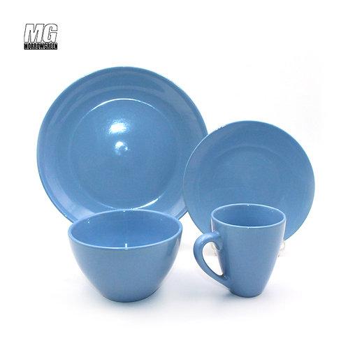 16 pcs custom stoneware solid color dinnerware set