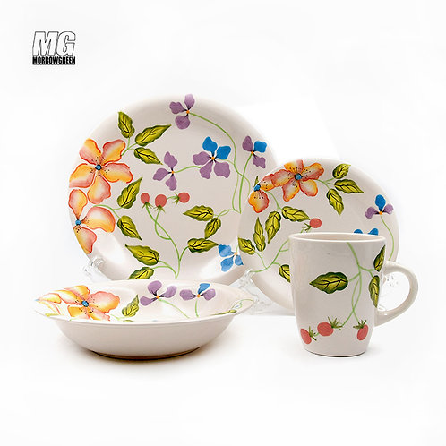 Decoration firing ceramic tableware set