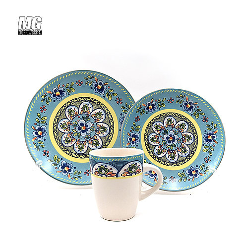 Henan ceramics hand painted 12 European household gifts tableware stoneware dishes export|china dishes|tableware ceramic