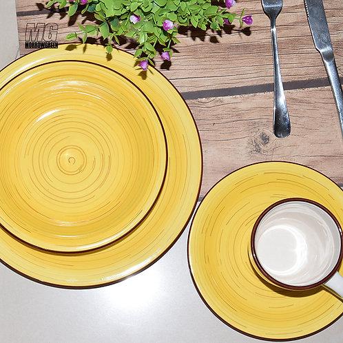 16 pcs Ceramic stoneware hand-painted dinner set