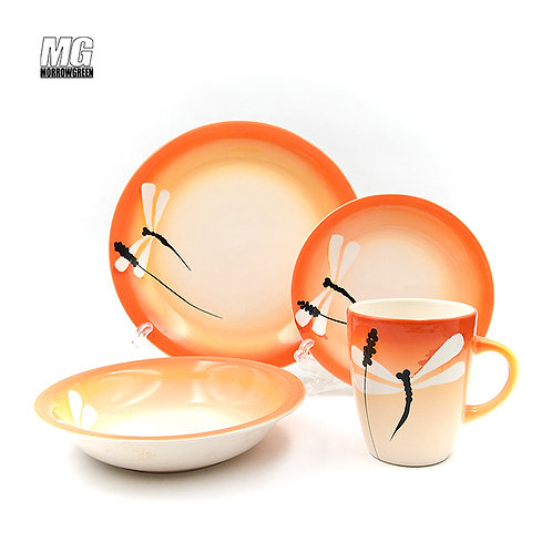 Kitchenware & Tableware 16 PCS Hand Painted Dinner Set