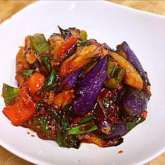 Eggplant w. Garlic Sauce