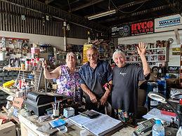 In John's garage at Nangus.jpg