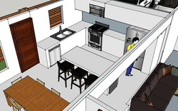 Remodeled Kitchen Design and Living Space