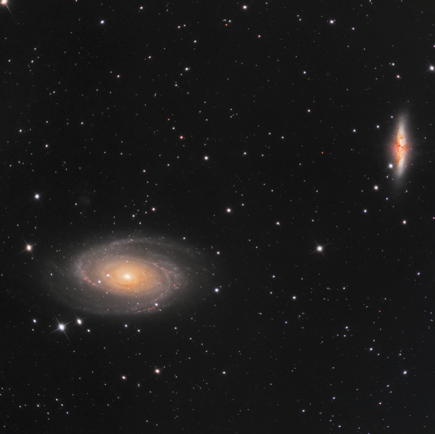 Les galaxies de Bode (M81 & M82)