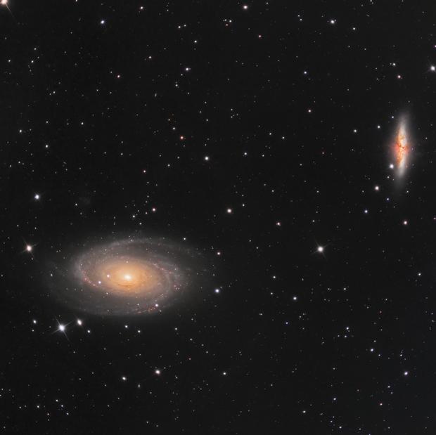 Les galaxies de Bode (M81 & M82)