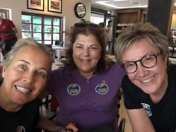 Georgette Vidor se encontra com Denise Frossard e Stela Torreão