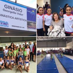 Paraíba do Sul inaugura ginásio Georgette Vidor