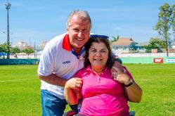 Georgette Vidor recebe o apoio de Zico