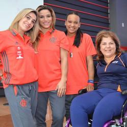 Georgette Vidor visita Casa Flamengo