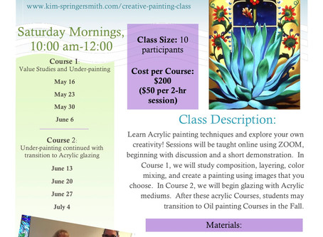 Creative Acrylic Painting Schedule