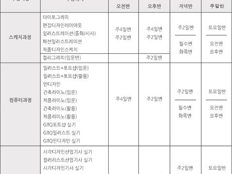09월 일반과정 개강안내(1차)