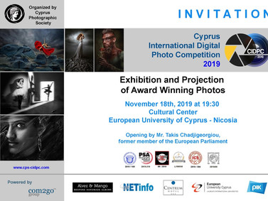 Photographic Exhibition of CIDPC 2019 - Cyprus International Photography Competition