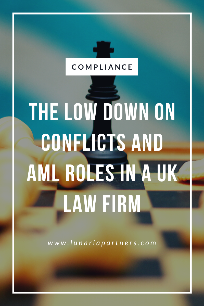 Giving information on conflicts and AML in a law firm